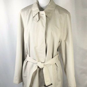 Lands' End Trench Coat~Wool Liner~All Season